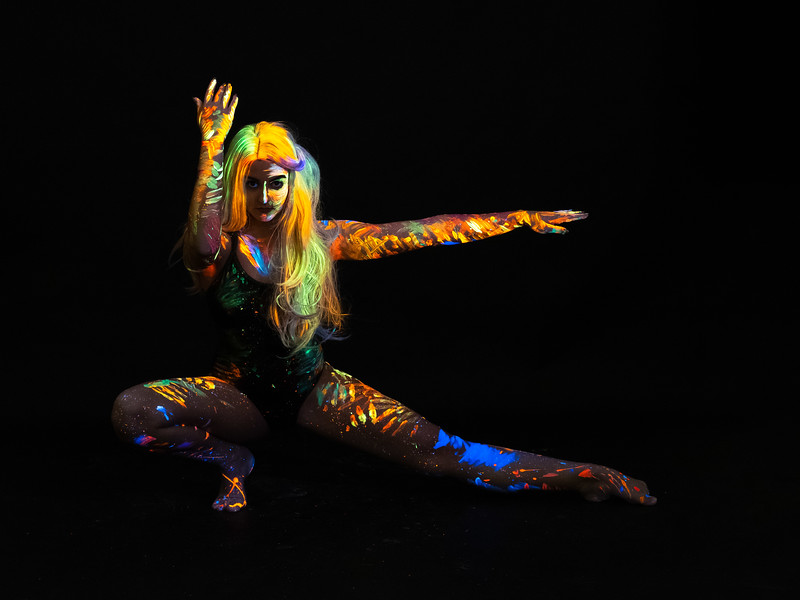 Morgan Porter - UV dance photoshoot