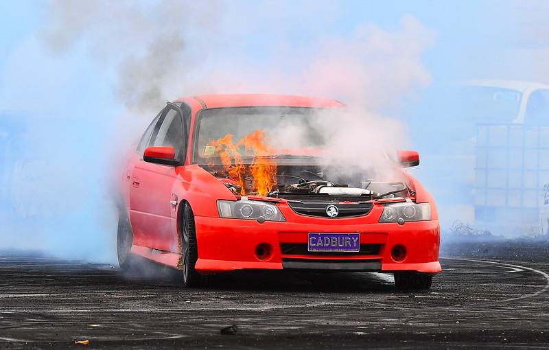 Cadbury Car on fire 2020