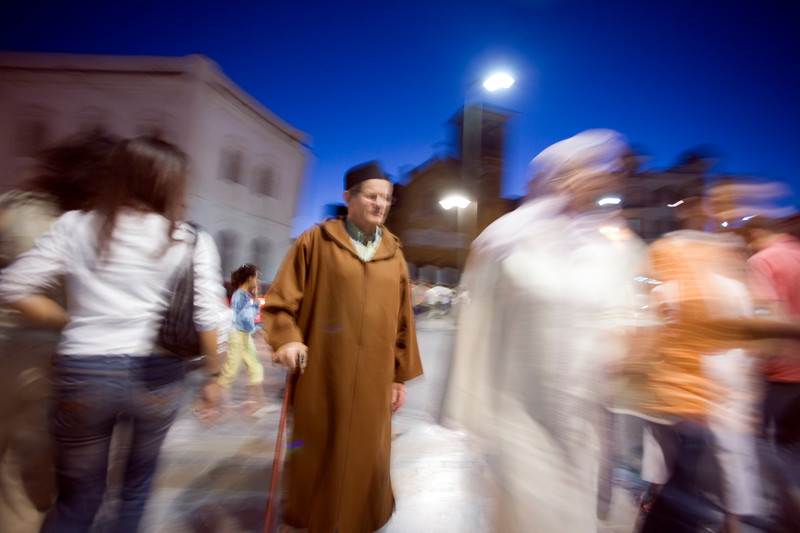 People in traditional dress, town of Tetouan, northern Morocco, Africa