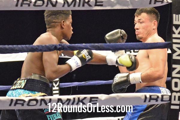 Bout 6 Erickson Lubin(Red Corner), Orlando, FL -vs- Norberto Gonzalez(Blue Corner), Monterrey MX, Jr. Middleweight