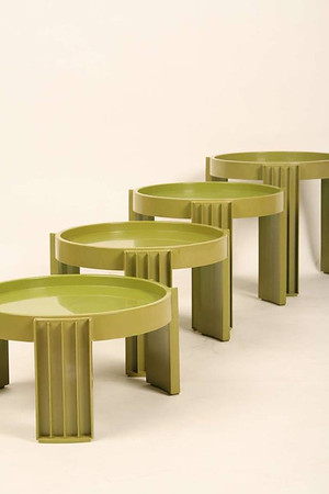 Gianfranco Frattini stacking side tables by Cassina, Milano.