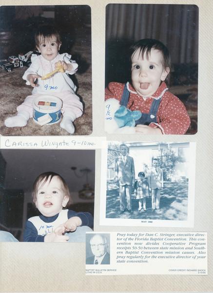 Wingate Photo Album 9-82 to 3-85