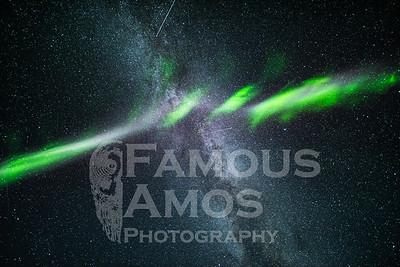 Aurora Borealis , Milky Way, And Steve Auroral Arc