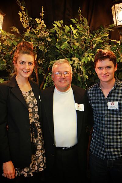Bob Yelton, Haleigh Petersen, Kris Gray. Scholarship Luncheon at Gardner-Webb University.