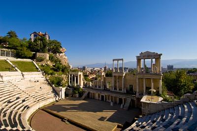 Roman Theatre, Old Town,  Plovdiv, Bulgaria