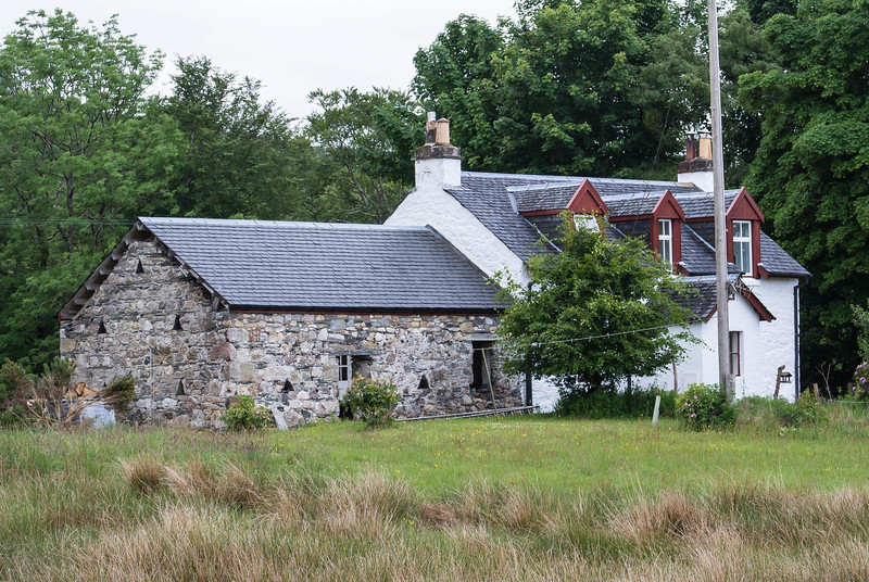 Typical Scottish cottage
