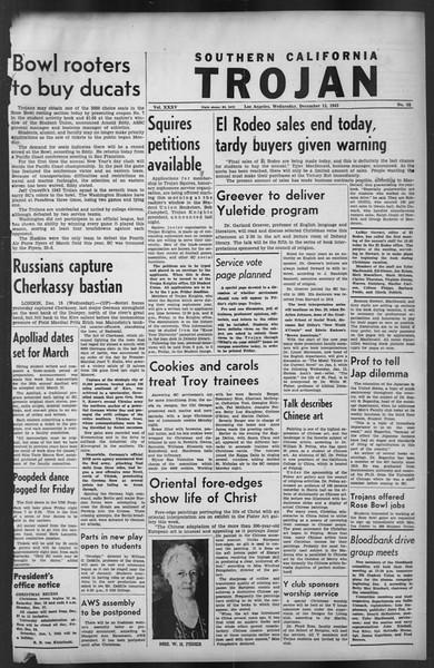 The Trojan, Vol. 35, No. 62, December 15, 1943