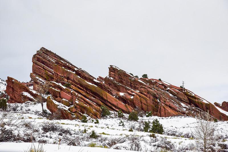 Snowy Red Rocks