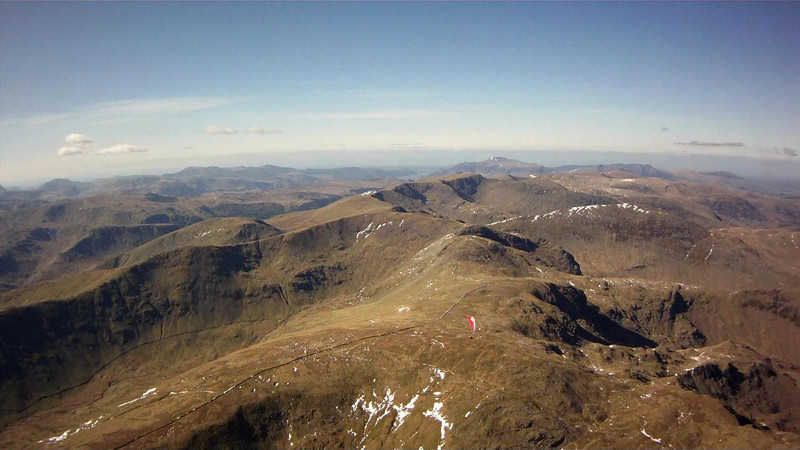 Climbing out from below. All the corries and spurs worked well. Tracking along the high ground and moving SE seemed to be the place.