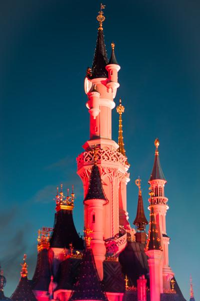 Sleeping Beauty's Castle (by night)