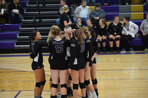 Durand Varsity volleyball vs. Spring Valley, Tuesday, Oct. 9th, 2018