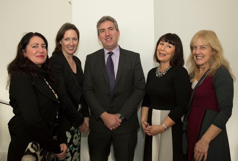 28/10/2015 Image Free to Use. Conferring at Waterford Institute of Technology. l-r; Aislinn Brennan, Inez Bailey, John Wall, Helan Murphy and Geraldine Mernagh.Photo; Mary Browne