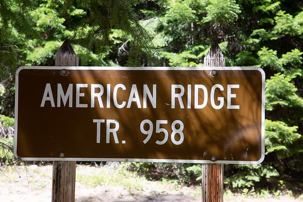 2019-08-24 Hiking American Ridge Trail 958 on Bumping River Road