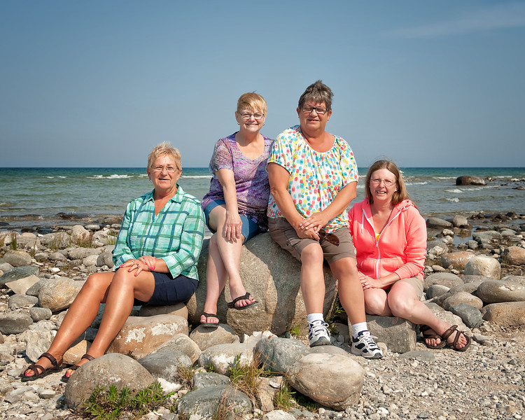 045 Michigan August 2013 - Grand Traverse Lighthouse Shore (Ilene,Deb,Pan,Janice).jpg