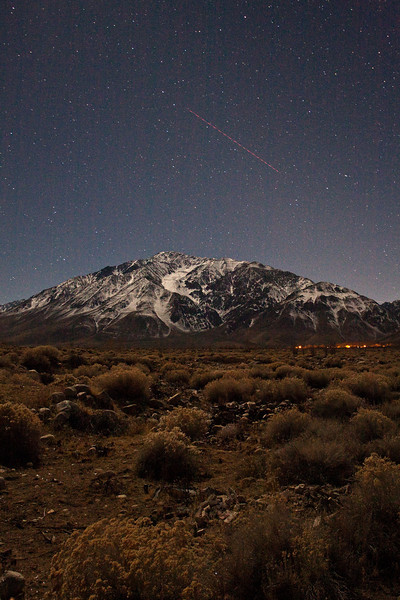 "Eastern Sierra ""Daytime at Night"" - Mt. Tom and Wheeler Ridge"