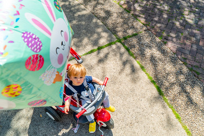 Declan Gets a Balloon on Easter