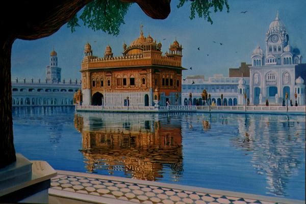 Portrait of Golden Temple (Amritsar, India)