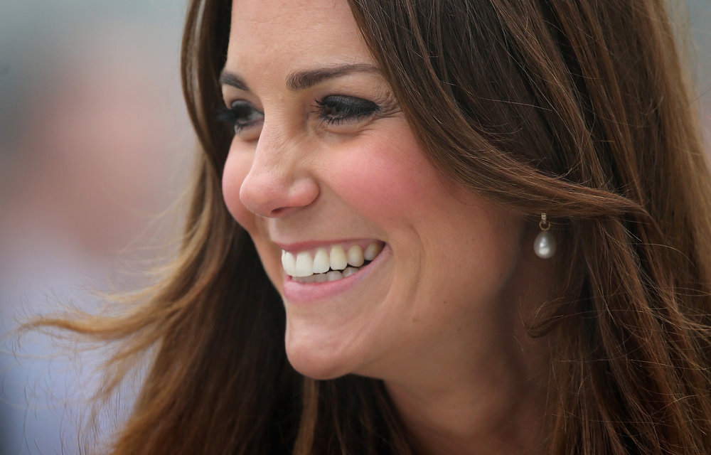 . Catherine, Duchess of Cambridge arrives at Havelock Academy on March 5, 2013 in Grimsby, England.  The pregnant Duchess of Cambridge is spending the day visiting Grimsby in the North East of England.  (Photo by Chris Jackson/Getty Images)