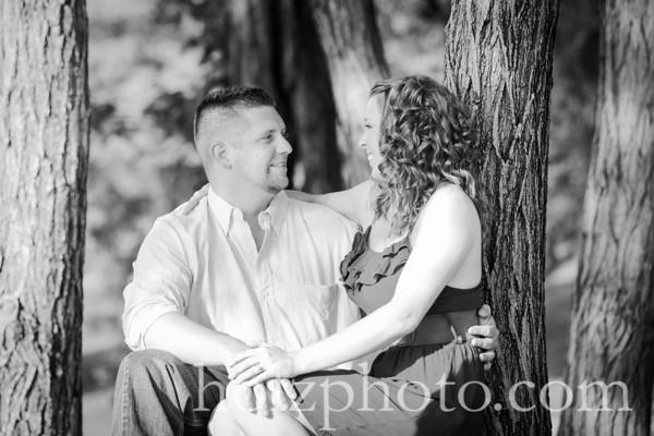 Sarah & Brandon B/W Engagement Photos