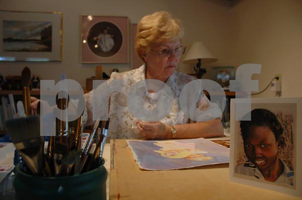 Artist Jean Corbett - July 2007