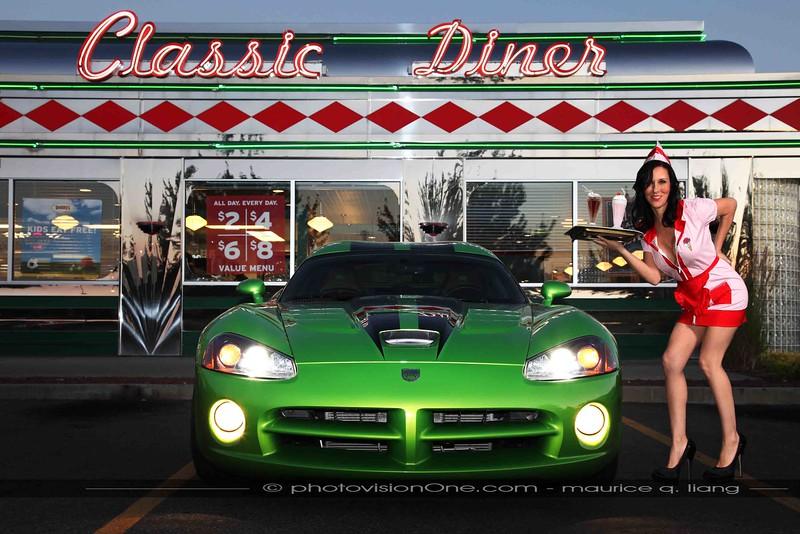 Drive In Diner.  2008 Viper SRT10  Model: Maryanne