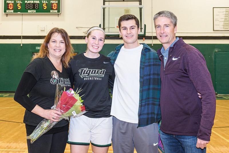 THS Girls Varsity Basketball Senior Night