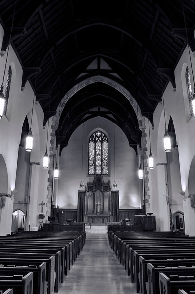 Christ Episcopal Church - Little Rock in B&W