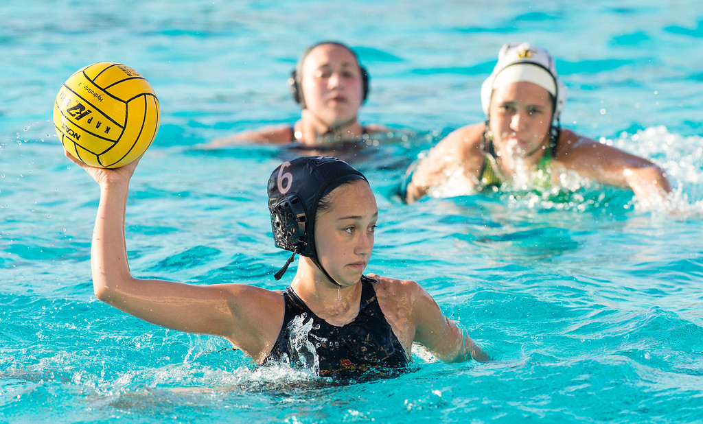 . La Serna High over Temple City High in the CIF-SS girls water polo first-round game 19-4 at Whittier High Feb. 14, 2013.   (SGVN/Staff photo by Leo Jarzomb)