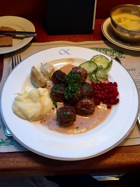 Swedish meatballs at  bakficka, soo goood
