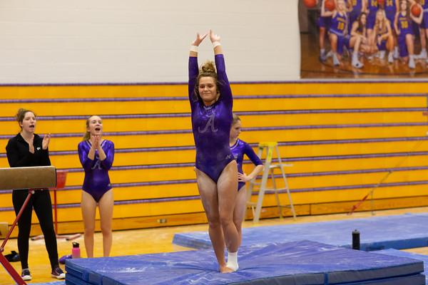 2019-02-07 Gymnastics vs Lakeland