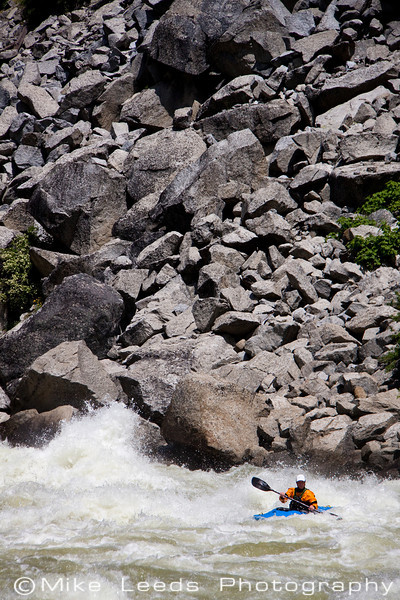 "James Byrd in ""Disneyland"" rapid on the N.F. Payette River, Idaho. Flows approx- 4,000-4,200cfs."