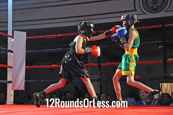 Bout # 1 Carlos Gonzalez(Ohio Prizefighters BC-Cleveland, OH )-vs-Ted Mrkonja Jr. (Pittsburgh BC) Jrs, 12-13 yrs