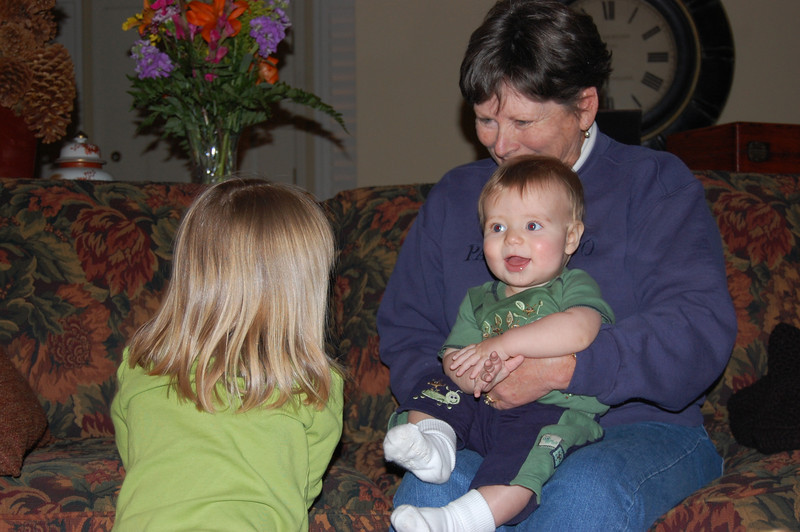 Elliot with Grammy and Olivia