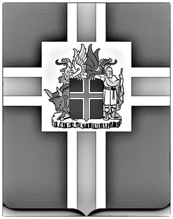 Faille de Þingvellir  noir et blanc