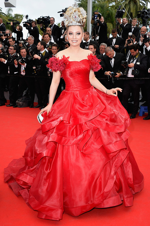 """. Elena Lenina attends the Opening ceremony and the \""""Grace of Monaco\"""" Premiere during the 67th Annual Cannes Film Festival on May 14, 2014 in Cannes, France.  (Photo by Pascal Le Segretain/Getty Images)"""