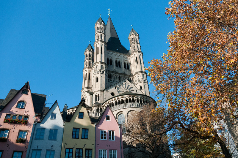 The Great St. Martin Church in Cologne, Germany