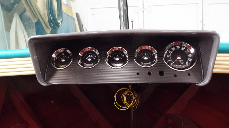 New instrument panel installed along with the rebuilt instruments.