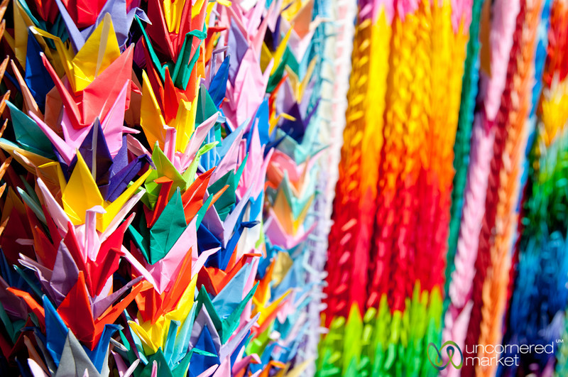 Colorful Paper Cranes at Fushimi Inari Shrine - Kyoto, Japan