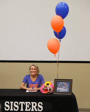 Jessie Brigham Signs with Boise State & Ashlynn Cantwell Signs With Lower Columbia To Play Volleyball  5-03-2018