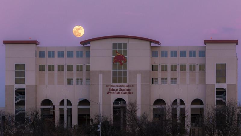 Moon Over Bobcat Stadium