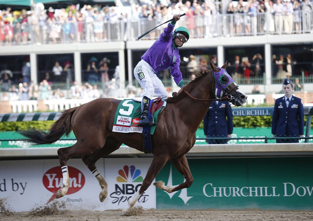 """. <p><b> The 140th running of the Kentucky Derby was Saturday in Louisville, and the winner was � </b> <p> A. California Chrome <p> B. Commanding Curve <p> C. Ahorseyouneverheardof <p><b><a href=\'http://www.twincities.com/sports/ci_25691745/california-chrome-wins-140th-kentucky-derby\' target=\""""_blank\""""> LINK </a></b> <p>    (Ron Garrison/Lexington Herald-Leader/MCT)"""