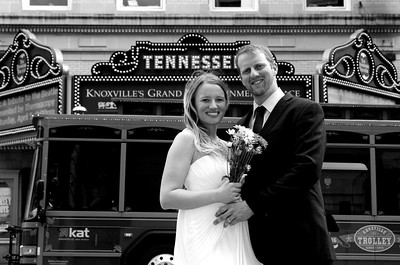 Jen and Andy B&W