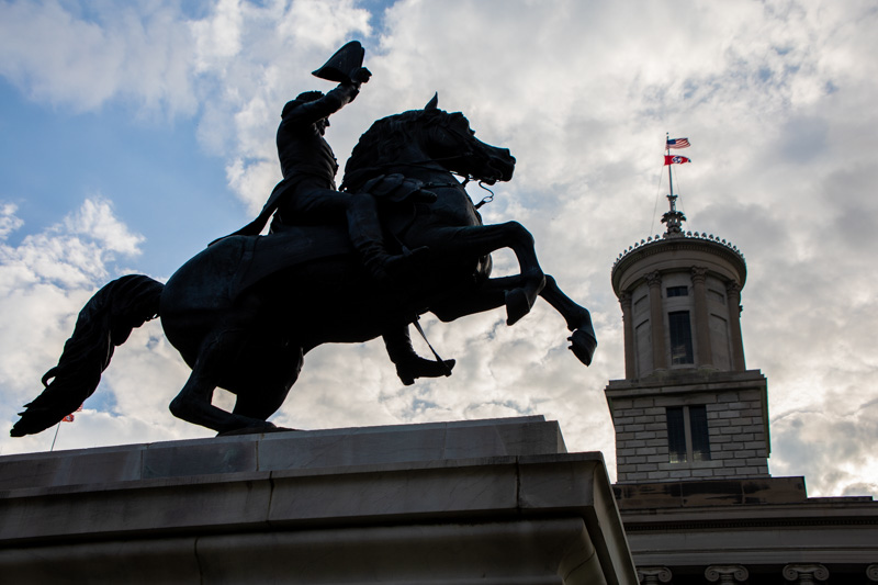 October 10 -President Andrew Jackson's statue in front of the Stte CXapitol, Nashville, Tennessee-1.jpg
