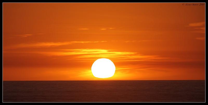Sunset, San Elijo Lagoon, San Diego County, California, March 2010