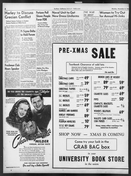 Daily Trojan, Vol. 32, No. 36, November 04, 1940