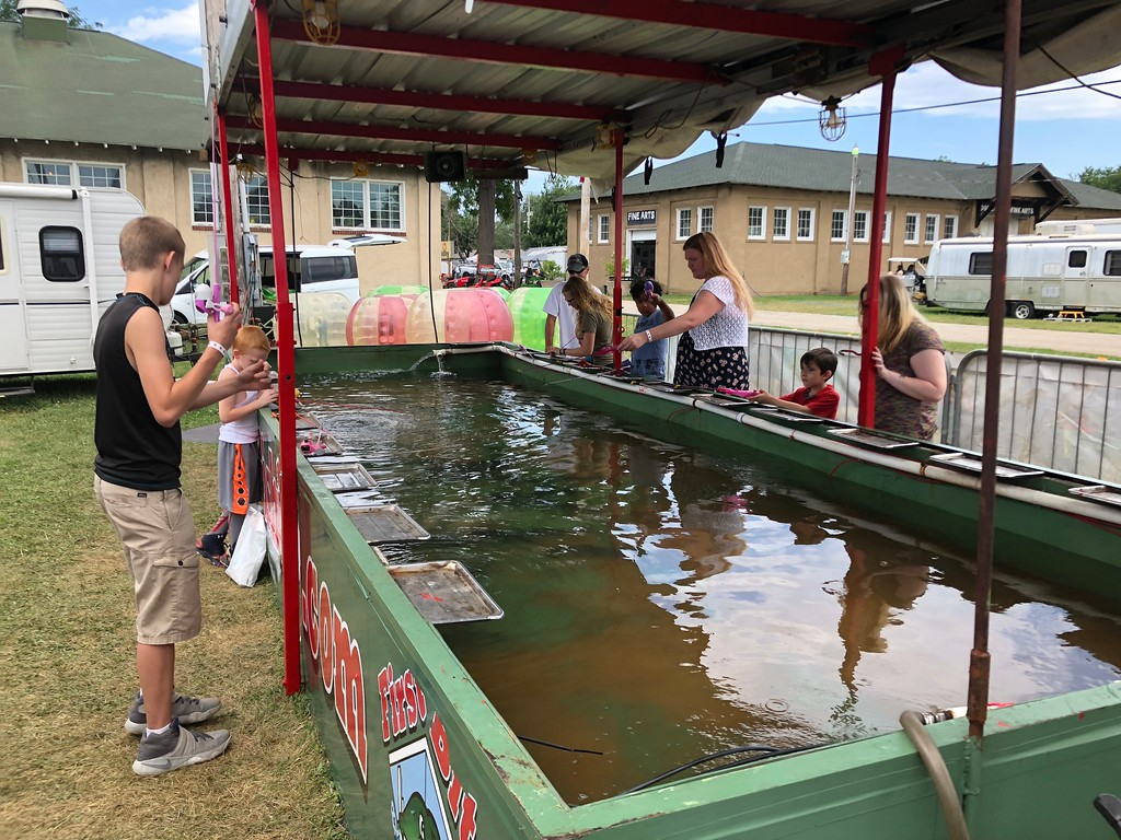 . Tawana Roberts � The News-Herald <br> Visitors of all ages enjoyed fishing at the 2018 Lake County Fair on July 26.