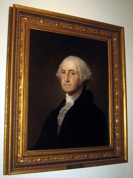 A replica painted by Gilbert Stuart from his original portrait of George Washington