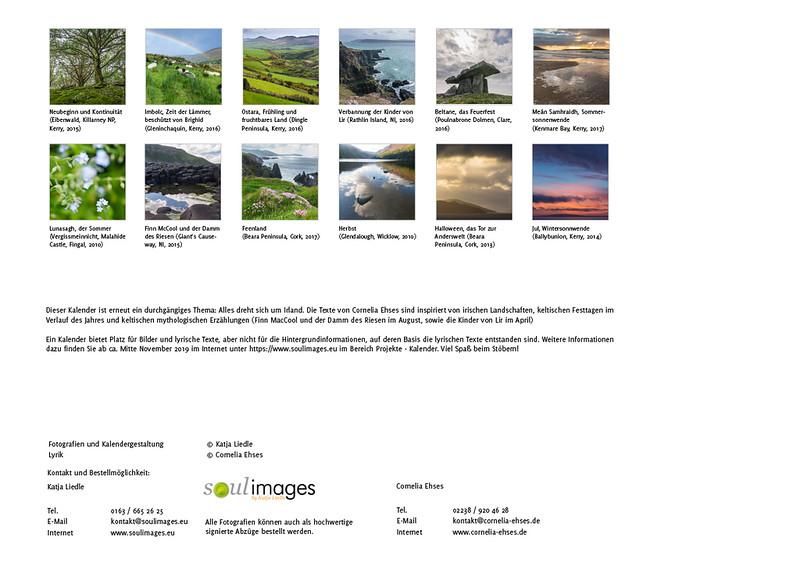 """Foto-Lyrik-Kalender 2020 """"An der Küste von Grünland"""" Übersicht"""