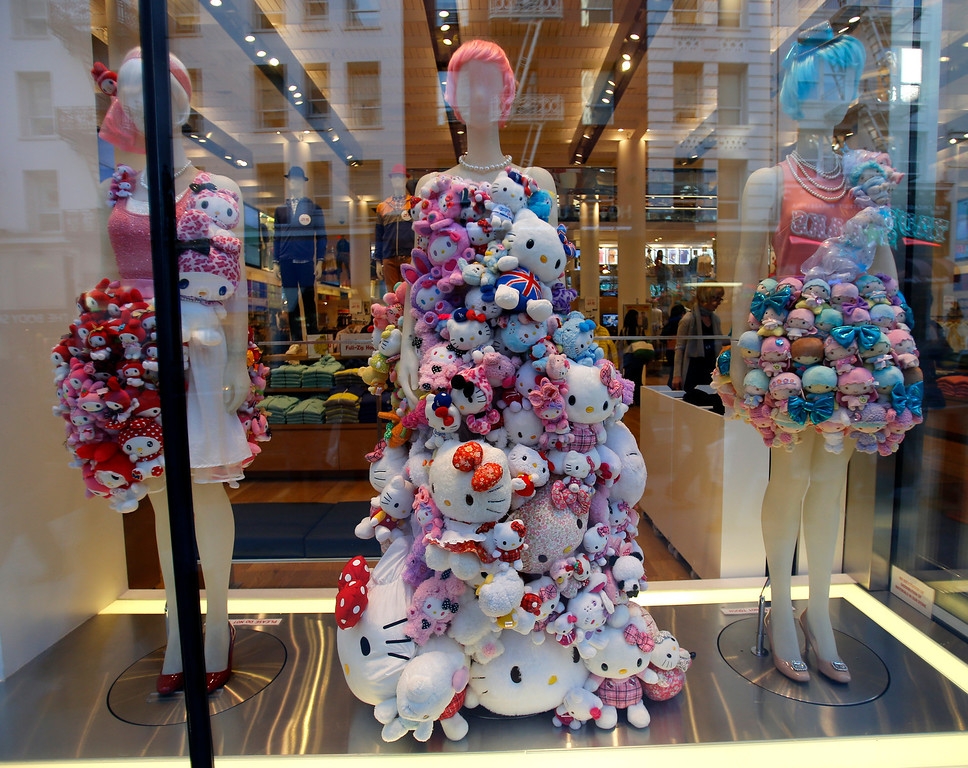 . A mannequin on display in the front window at Uniqlo clothing store on Powell St. in downtown San Francisco, Calif. on Thursday, Jan. 17, 2013.  They opened their store in San Francisco in October 2012.  (Nhat V. Meyer/Staff)