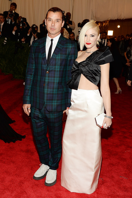 """. Gavin Rossdale and Gwen Stefani attend the Costume Institute Gala for the \""""PUNK: Chaos to Couture\"""" exhibition at the Metropolitan Museum of Art on May 6, 2013 in New York City.  (Photo by Dimitrios Kambouris/Getty Images)"""